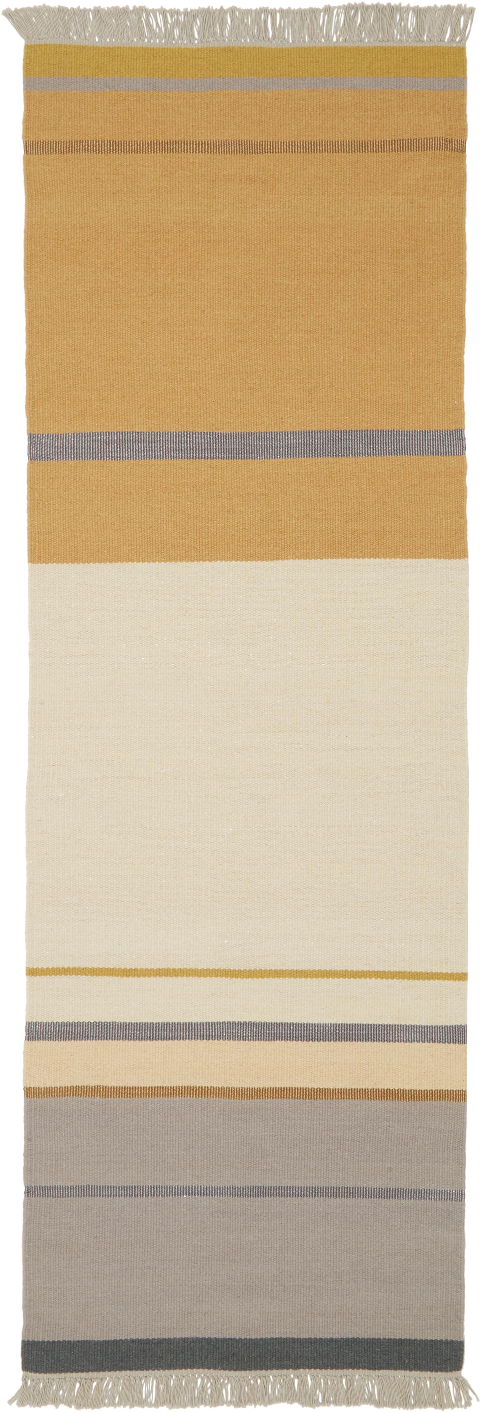 Ręcznie tkany chodnik z wełny z frędzlami Metallum, Wielobarwny, S 80 x D 250 cm
