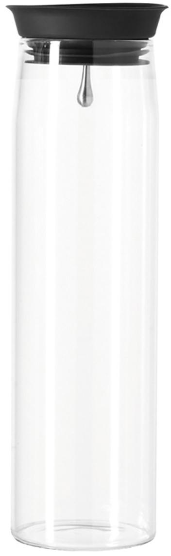 Caraffa Brioso, Vetro, silicone, Trasparente, 1.1 L