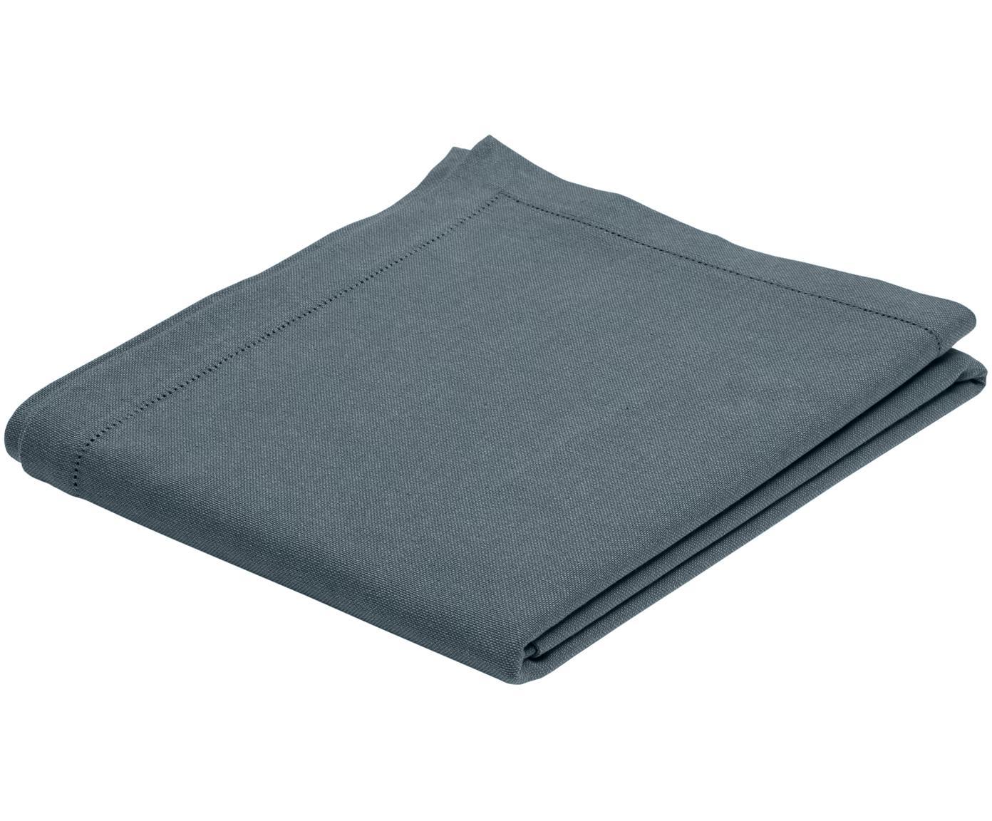 Mantel de algodón Indi, Algodón, Gris oscuro, De 6 a 8 comensales (An 140 x L 250 cm)