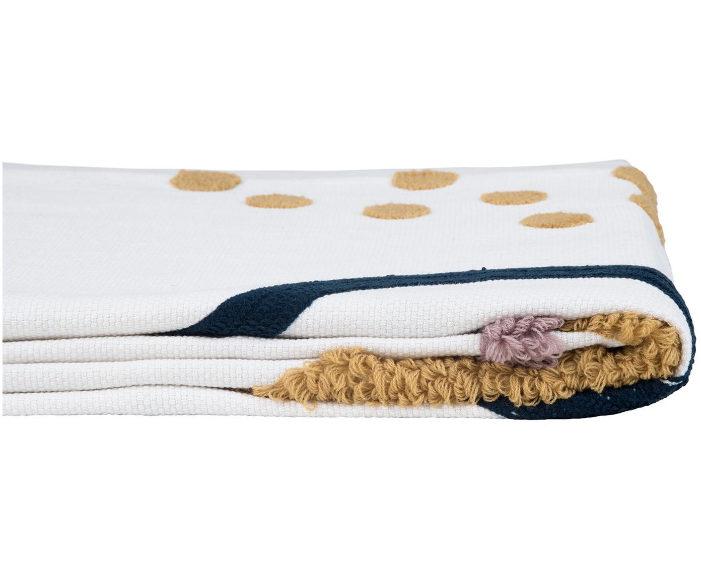 Pled z bawełny Pablo, Bawełna, Przód: wielobarwny Tył: biały, S 130 x D 170 cm