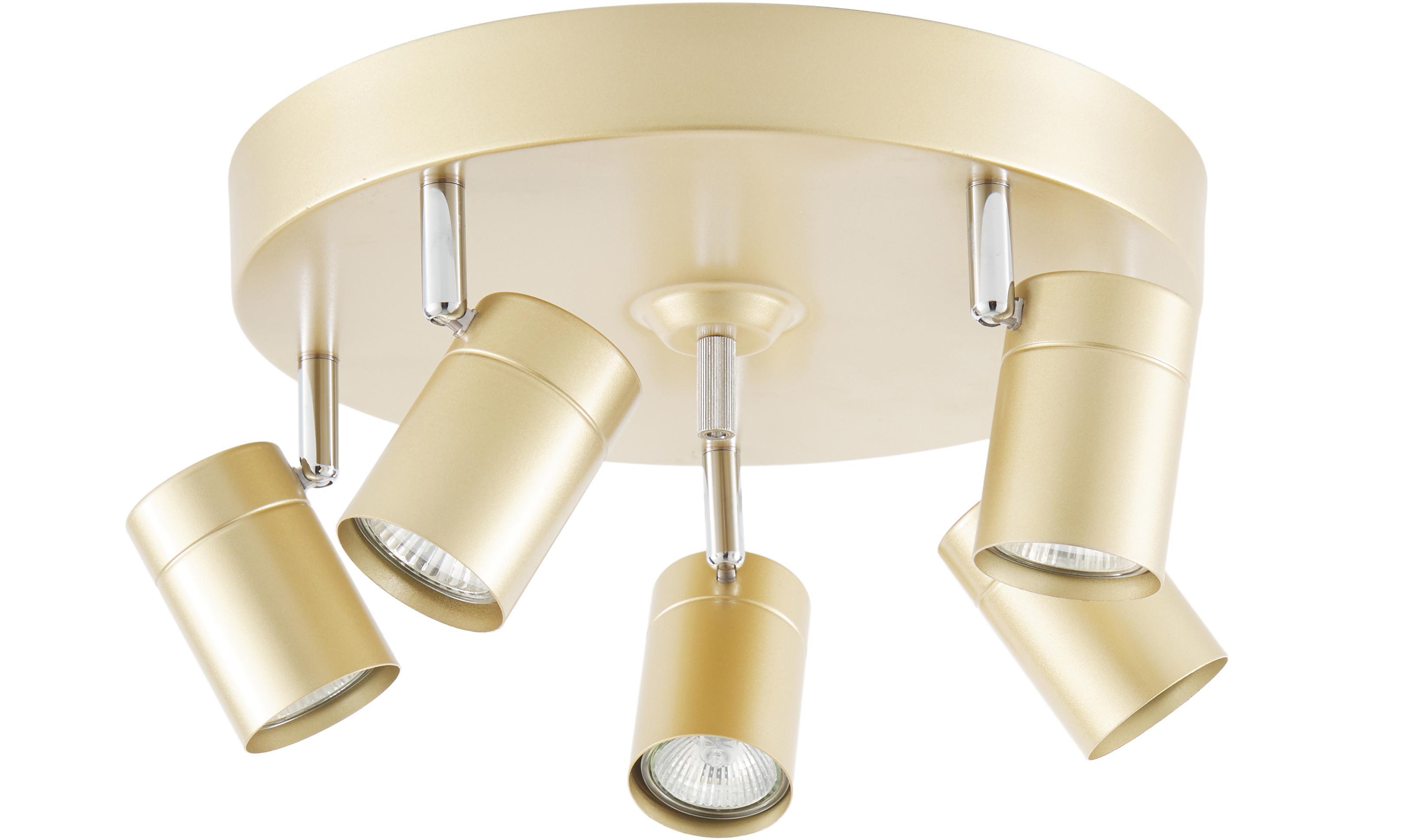 Lampa sufitowa Correct, Stelaż: metal powlekany, Odcienie złotego, Ø 30 x W 14 cm