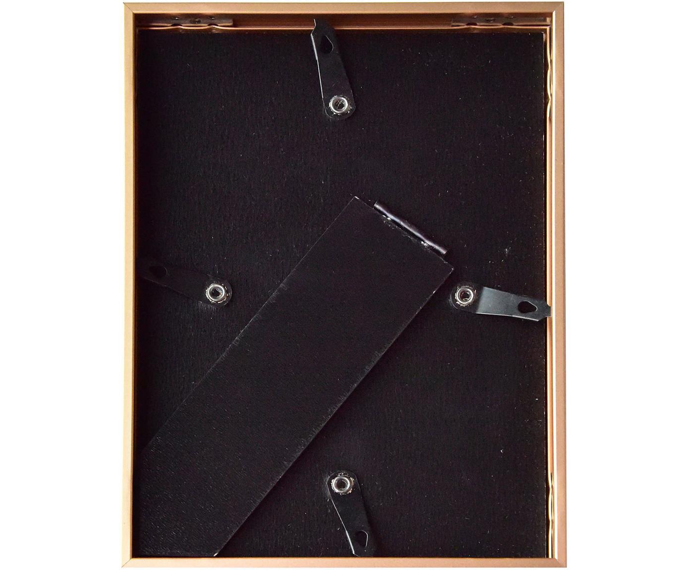 Bilderrahmen Duo, Rahmen: Aluminium, foliert, Front: Glas, Rückseite: Mitteldichte Holzfaserpla, Hellbraun, 10 x 15 cm