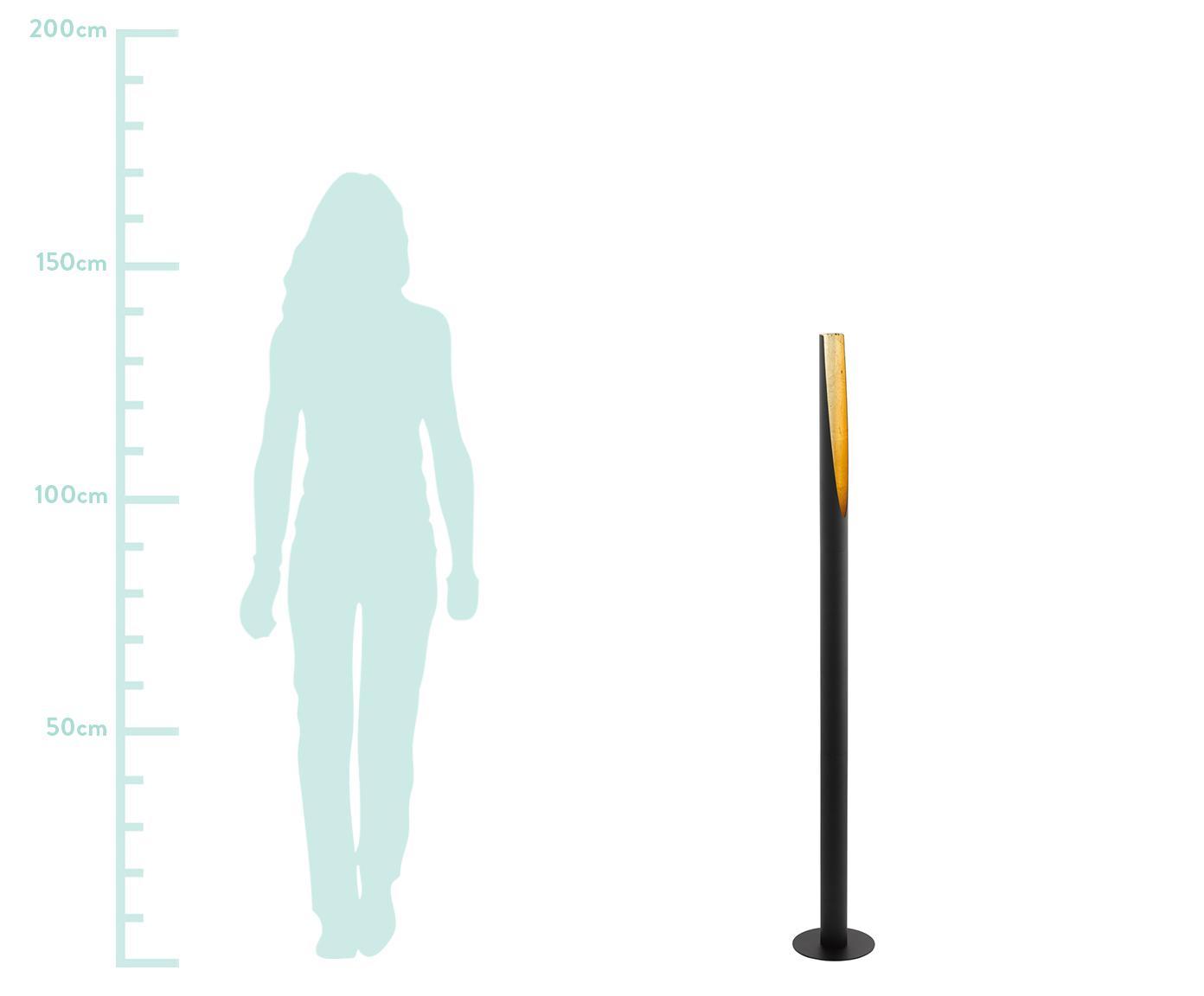 Lampa podłogowa LED Barbotto, Czarny, Ø 6 x W 137 cm