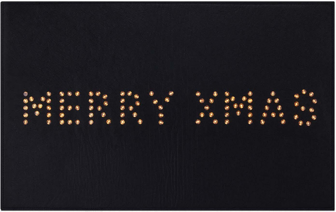 Leuchtende Fußmatte Lysa, Kunststoff, Schwarz, 80 x 50 cm