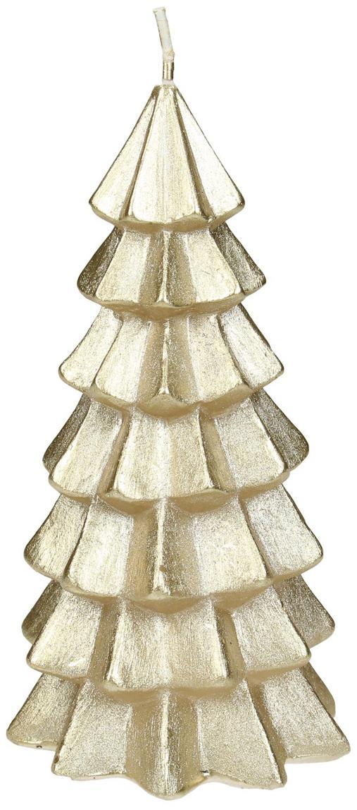 Vela Christmas Tree, Parafina, Dorado, Ø 6 x Al 12 cm