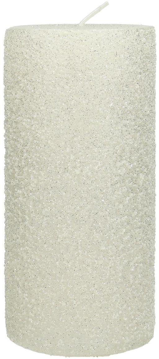 Candela pilastro Flair, Cera, Bianco, Ø 7 x Alt. 15 cm