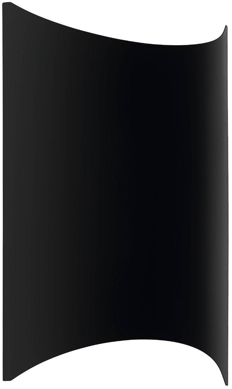LED Außenwandleuchte Lagasco, Stahl, verzinkt, Schwarz, 19 x 28 cm