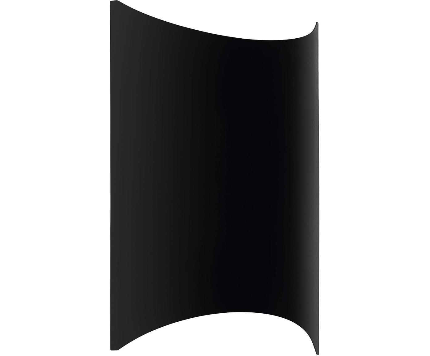 Outdoor LED wandlamp Lagasco, Verzinkt staal, Zwart, 19 x 28 cm