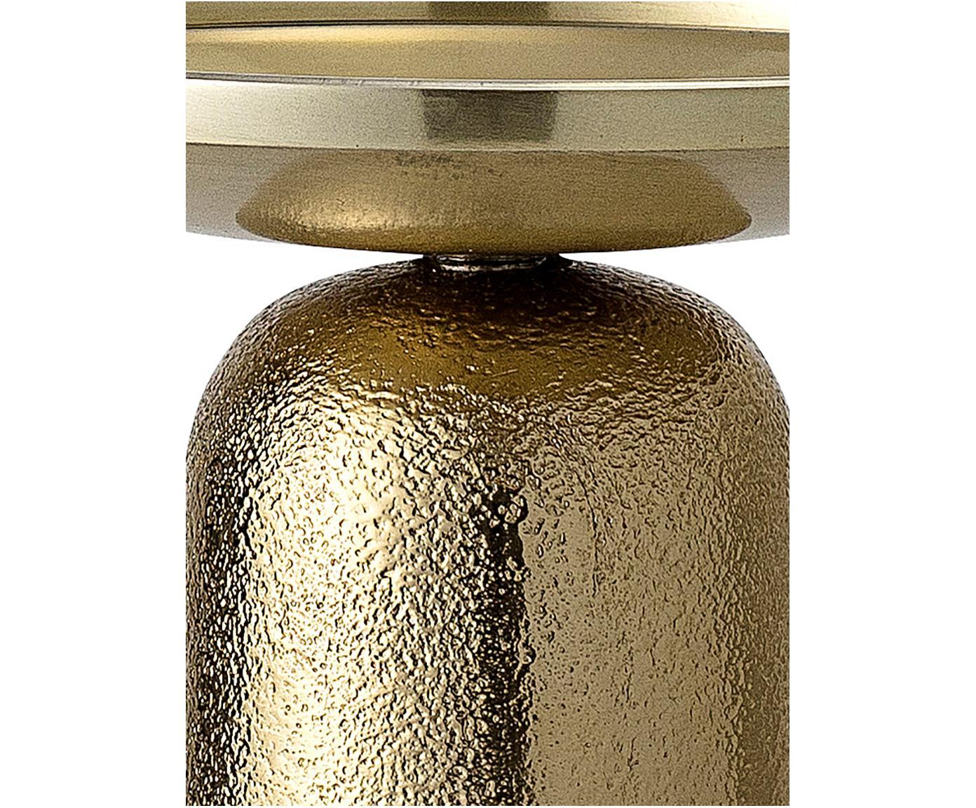 Świecznik Lasse, Aluminium powlekane, Odcienie mosiądzu, Ø 13 x W 10 cm