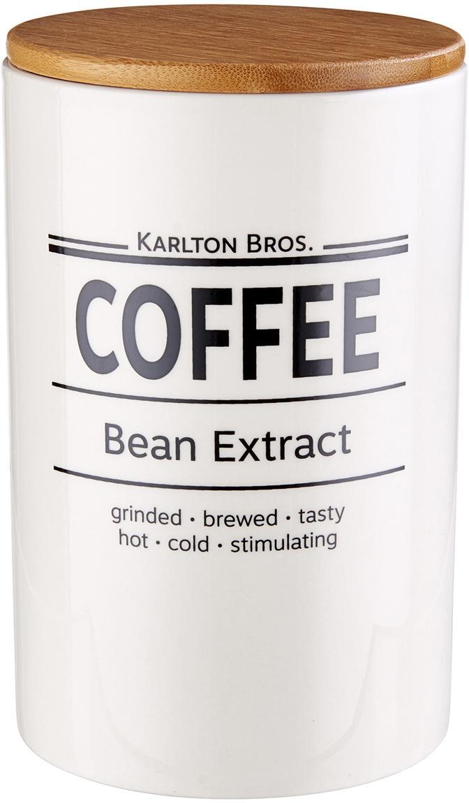 Aufbewahrungsdose Karlton Bros. Coffee, Porzellan, Weiß, Schwarz, Braun, Ø 11 x H 18 cm
