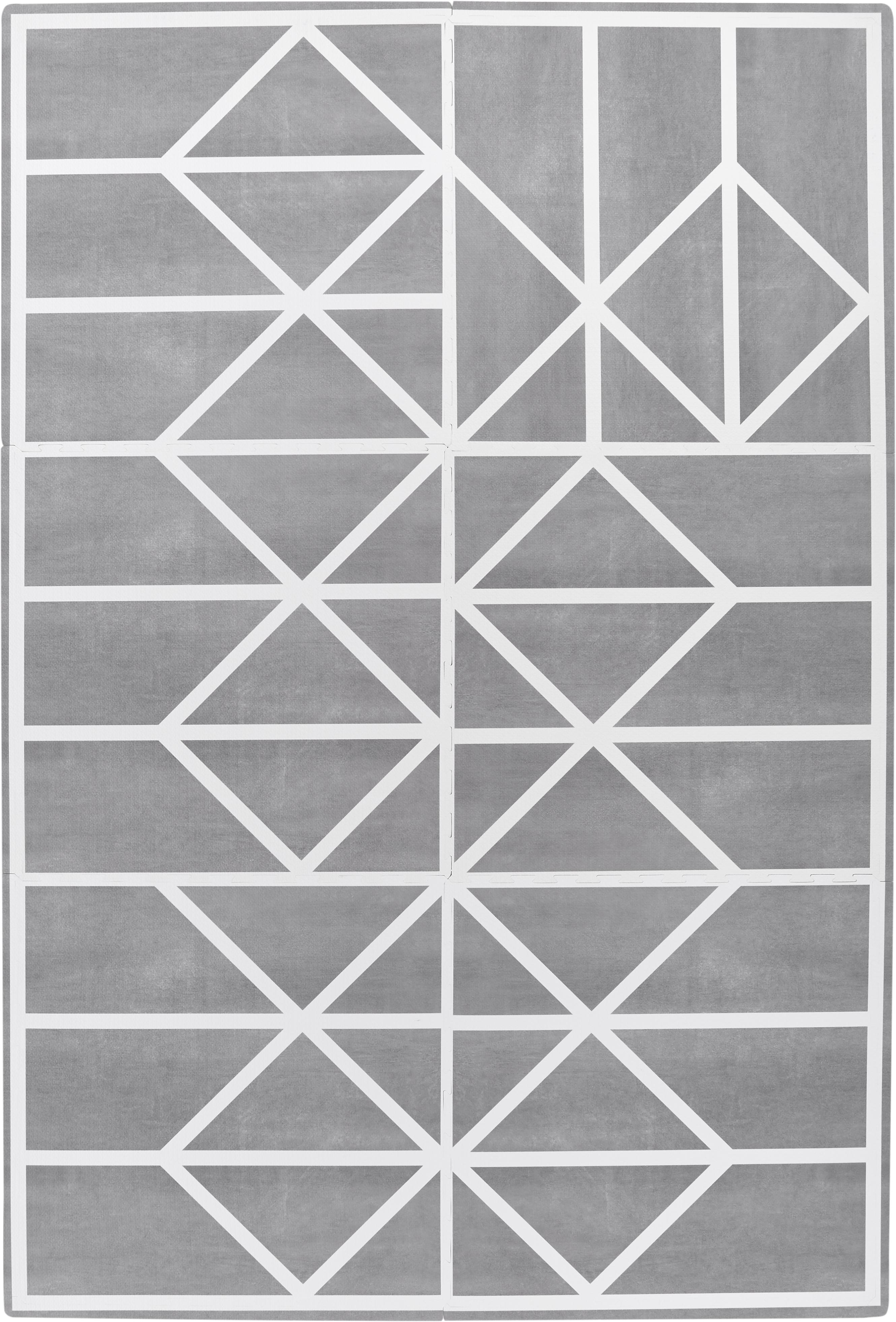 Komplet rozkładanej maty do zabawy Nordic, 18 elem., Piana (EVAC), bez zanieczyszczeń, Szary, kremowy, S 120 x D 180 cm