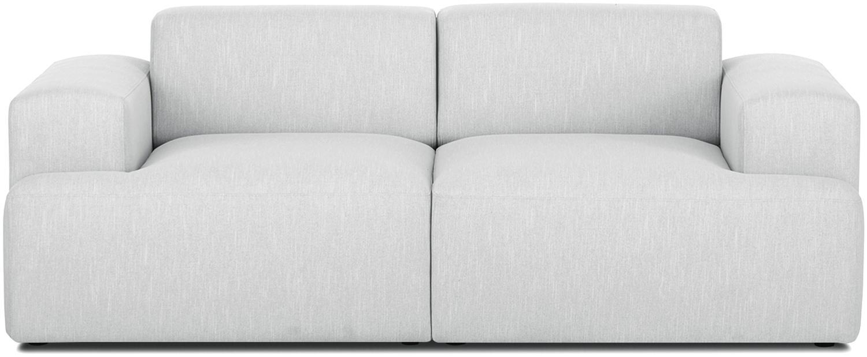 Bank Melva (2-zits), Bekleding: polyester, Frame: massief grenenhout, spaan, Poten: grenenhout, Lichtgrijs, B 200 x D 101 cm