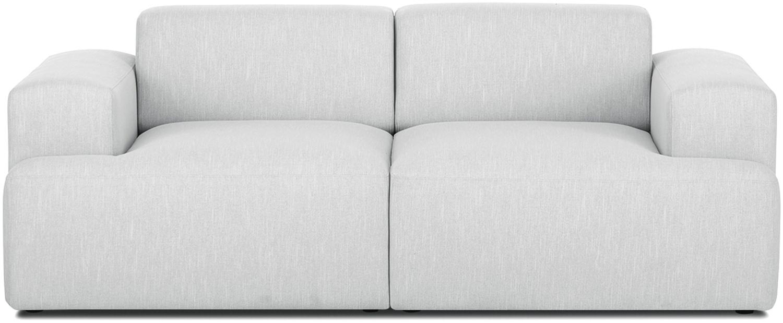 Sofa Melva (2-Sitzer), Bezug: Polyester Der hochwertige, Gestell: Massives Kiefernholz, Spa, Webstoff Hellgrau, B 200 x T 101 cm