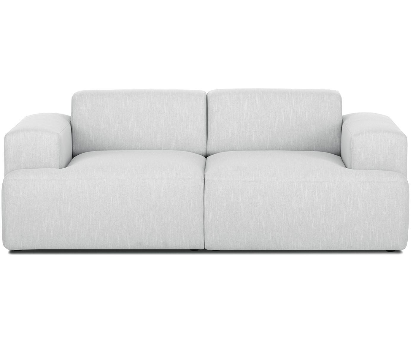 Sofa Melva (2-Sitzer), Bezug: Polyester 35.000 Scheuert, Gestell: Massives Kiefernholz, Spa, Webstoff Hellgrau, B 200 x T 101 cm