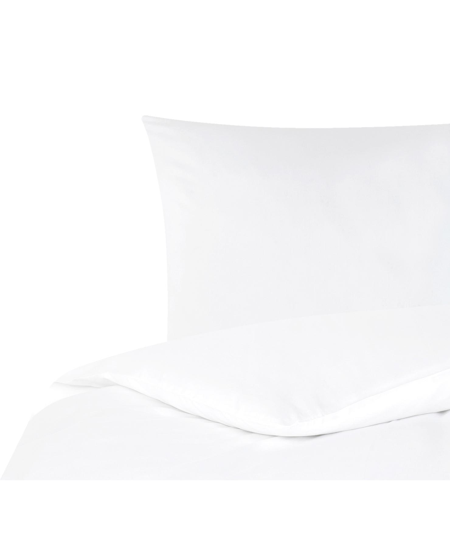 Pościel z satyny bawełnianej Comfort, Biały, 135 x 200 cm