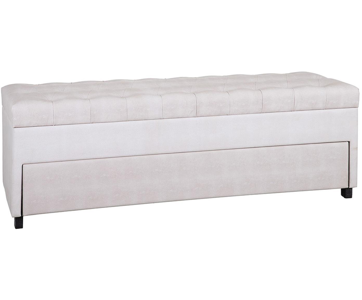 Banco tapizado Zapa, con espacio de almacenamiento, Estructura: tablero de fibras de dens, Tapizado: cuero sintético, Multicolor, An 140 x Al 50 cm