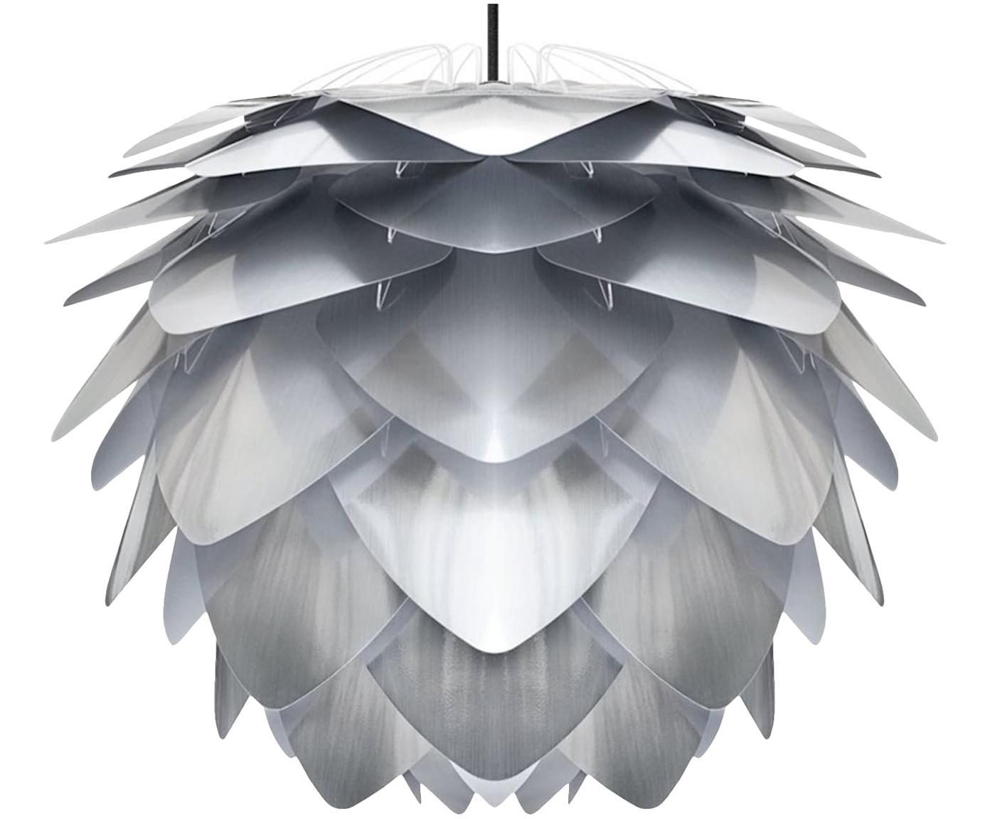 Lámpara de techo Silvia, set para montar, Pantalla: polipropileno, Cable: cubierto en tela, Colores de acero, Ø 34 x Al 27 cm