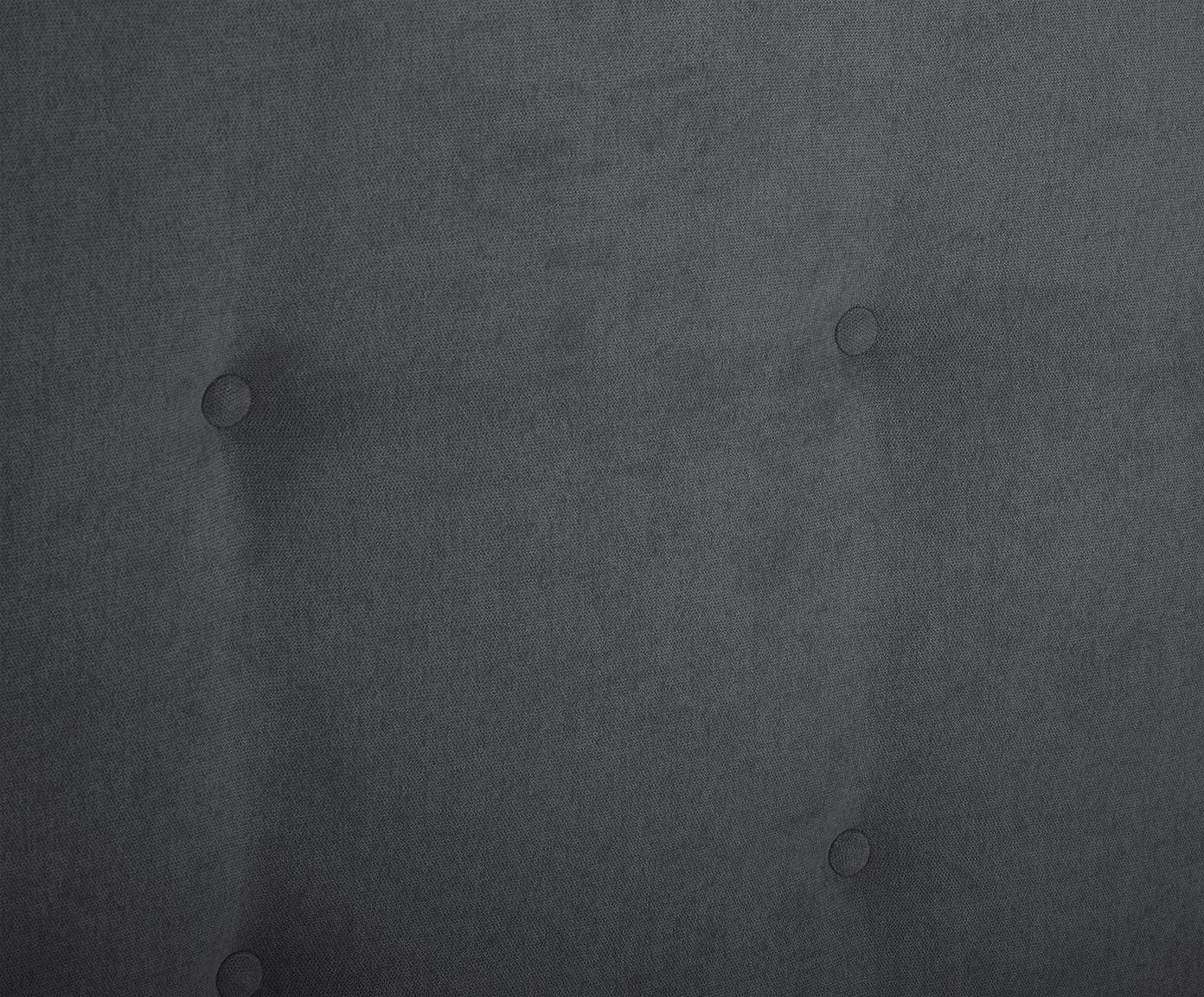 Letto matrimoniale imbottito Star, Rivestimento: velluto di poliestere 40., Grigio scuro, 180 x 200 cm