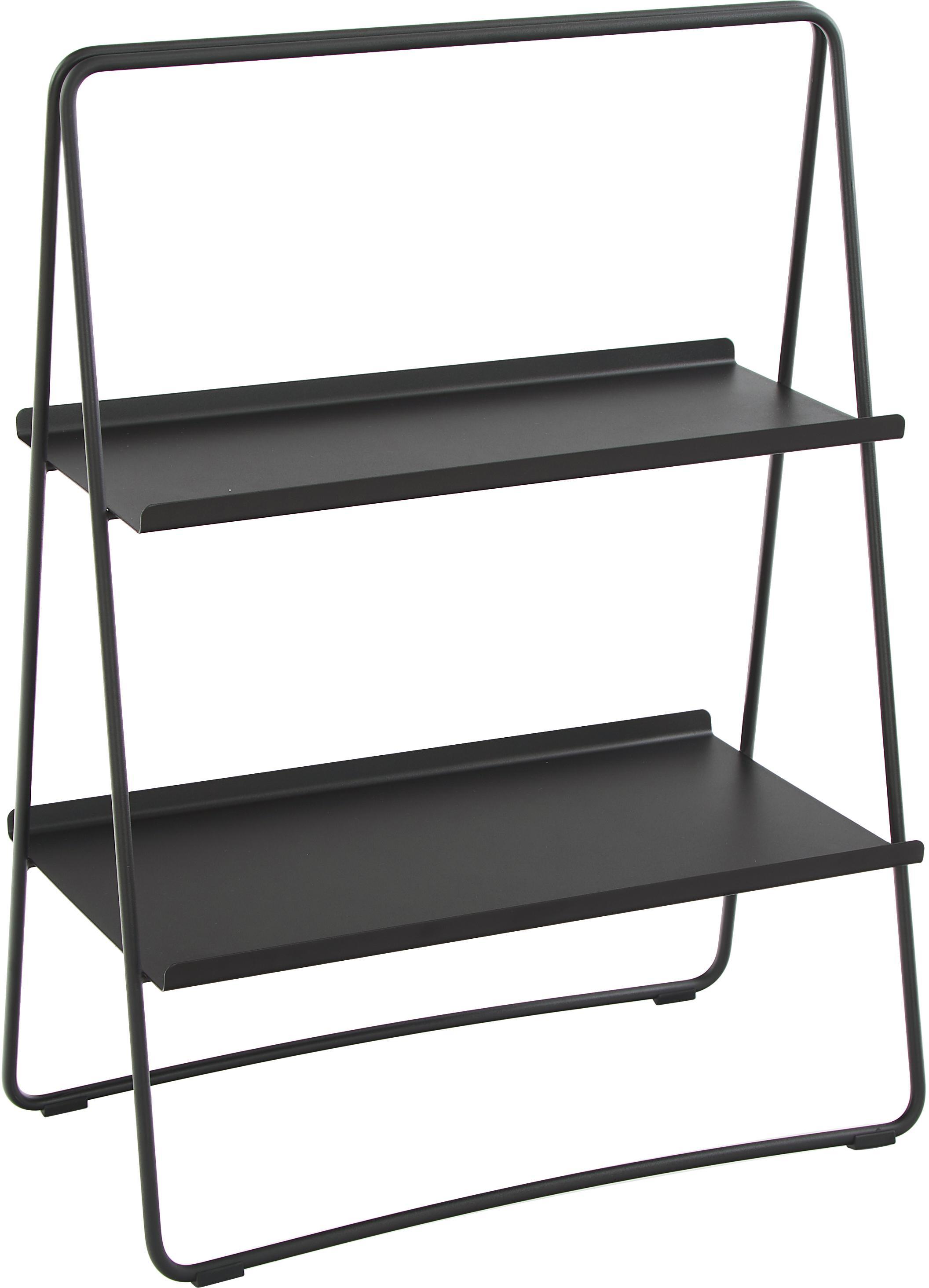 Ladder wandrek Aguina, Gelakt staal, Zwart, 53 x 75 cm