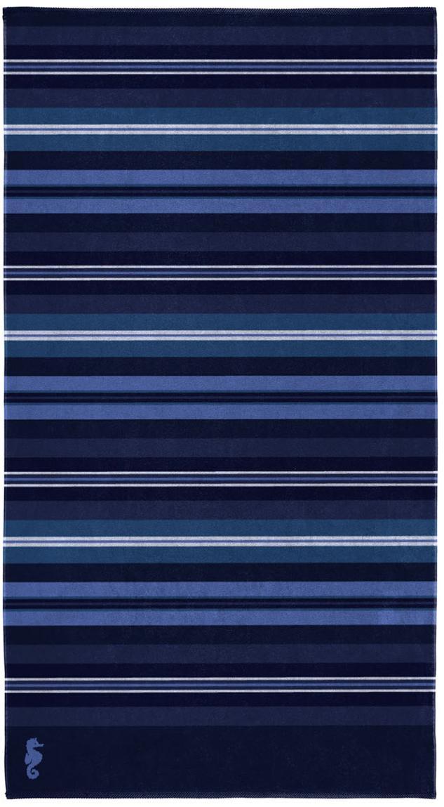 Ręcznik plażowy Hampton, Welur (bawełna) Średnia gramatura, 420g/m², Odcienie niebieskiego, S 100 x D 180 cm