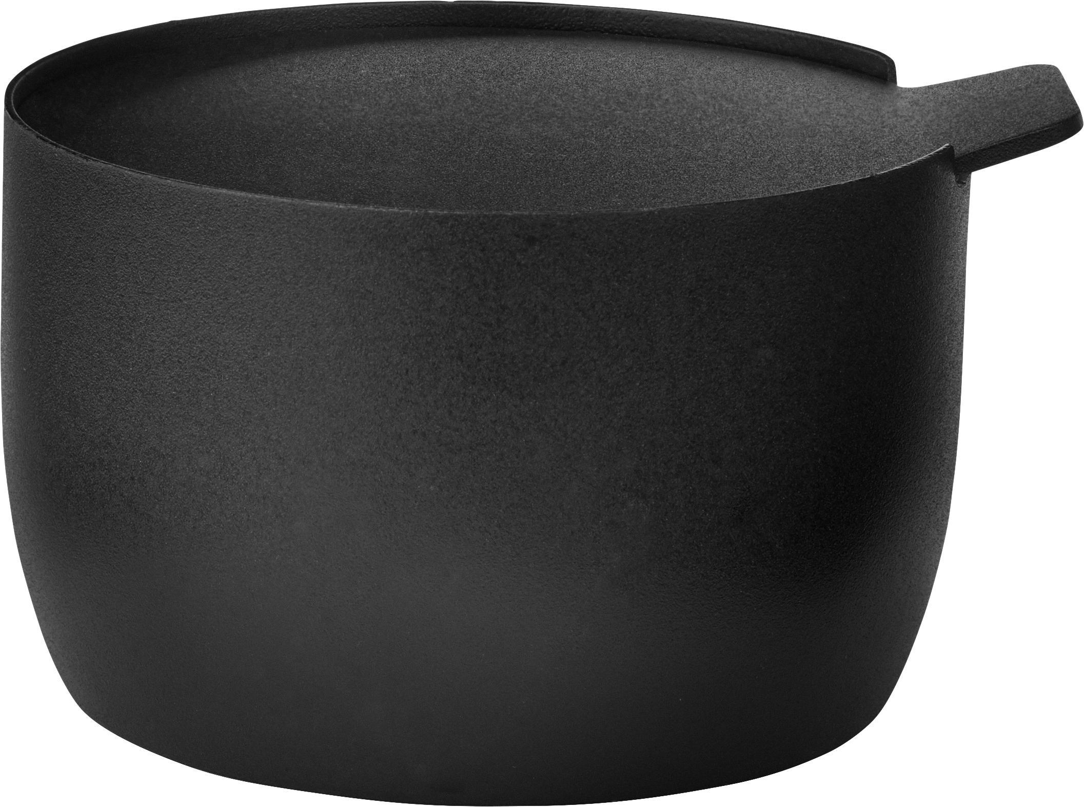 Zuckerdose Collar in Schwarz matt, Edelstahl mit Teflonbeschichtung, Schwarz, Ø 8 x H 6 cm