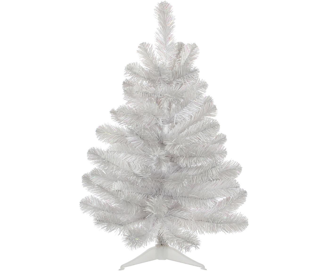Albero di Natale artificiale islandese, Materiale sintetico (PVC), Bianco iridescente, Ø 46 x Alt. 60 cm