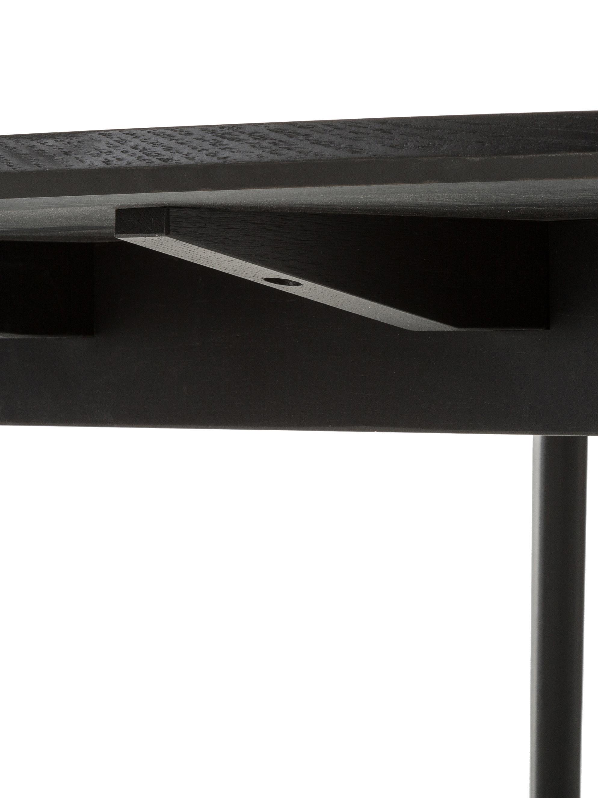 Table ronde en bois Yumi, Noir