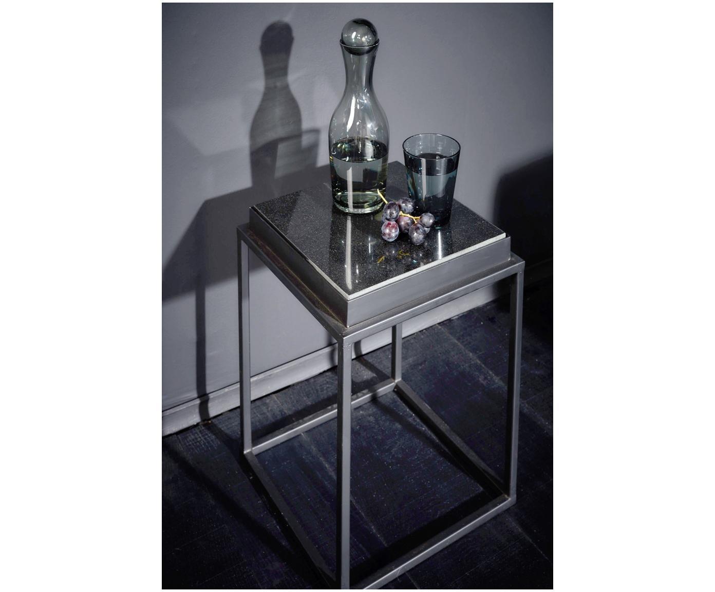 Karaffe Houston in Grau mit Kugelverschluss, Glas, Transparent, 1 L