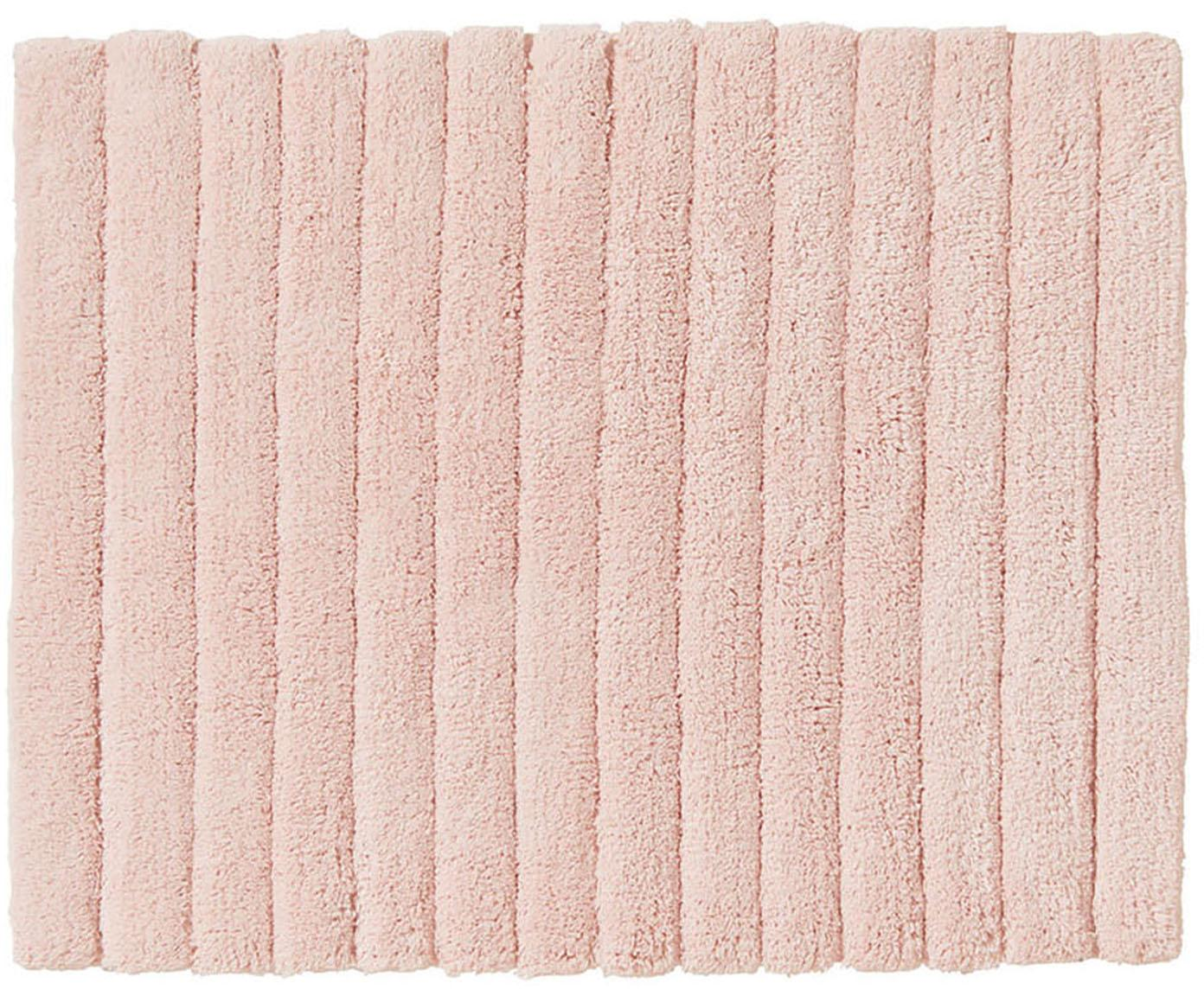 Alfombrilla de baño Board, Algodón Gramaje superior 1900g/m², Rosa, An 50 x L 60 cm