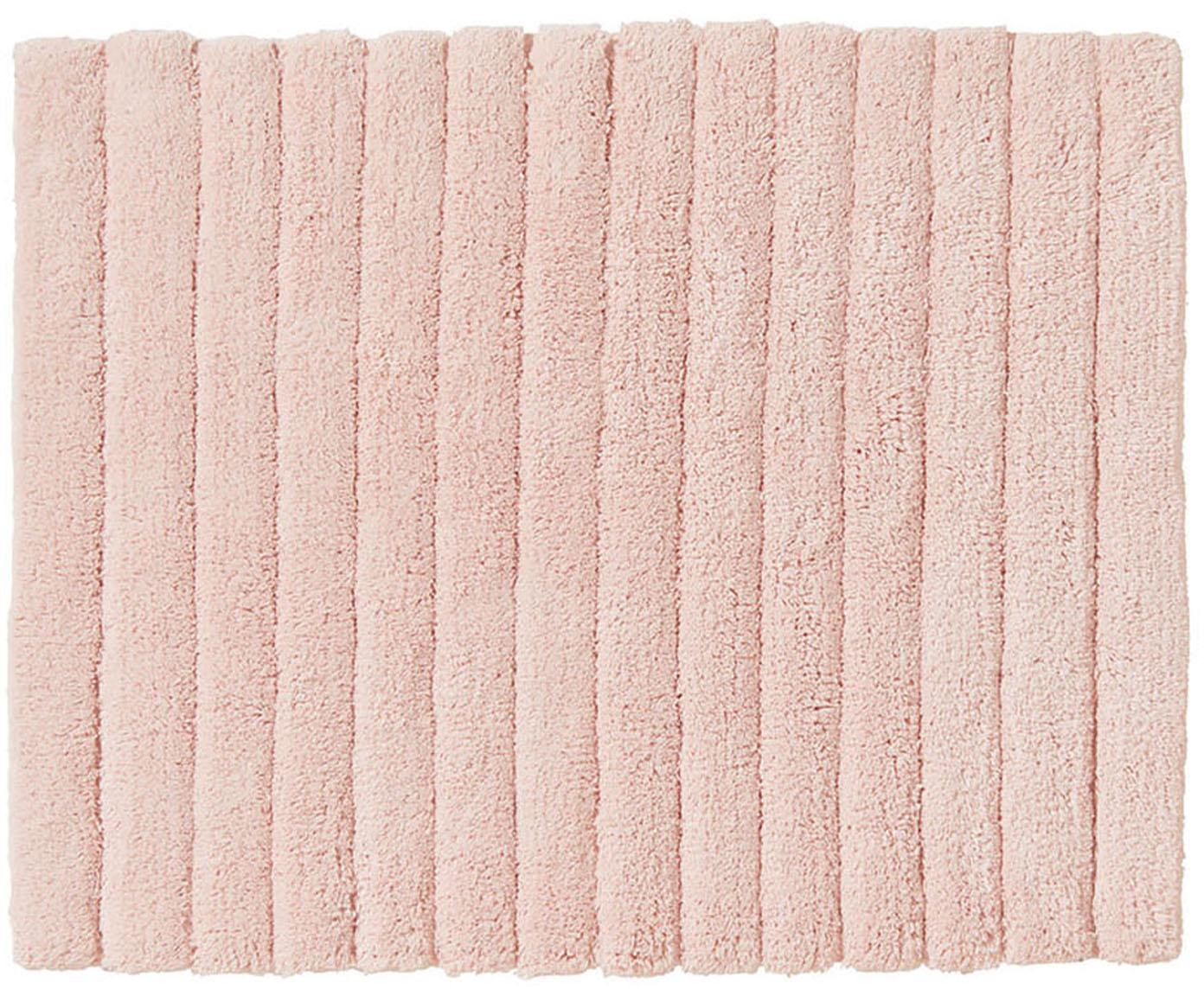 Dywanik łazienkowy Board, Bawełna, wysokagramatura, 1900g/m², Różowy, S 50 x D 60 cm