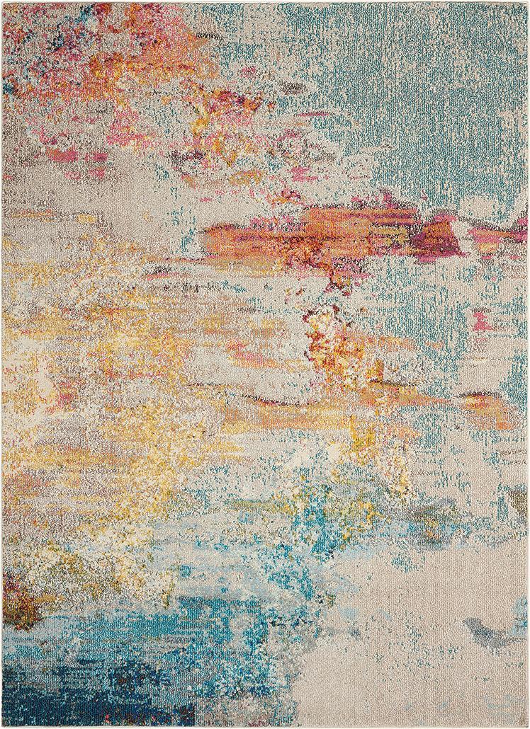 Design vloerkleed Celestial in kleur, Bovenzijde: 100% polypropyleen, Onderzijde: jute, Multicolour, B 200 x L 290 cm (maat L)