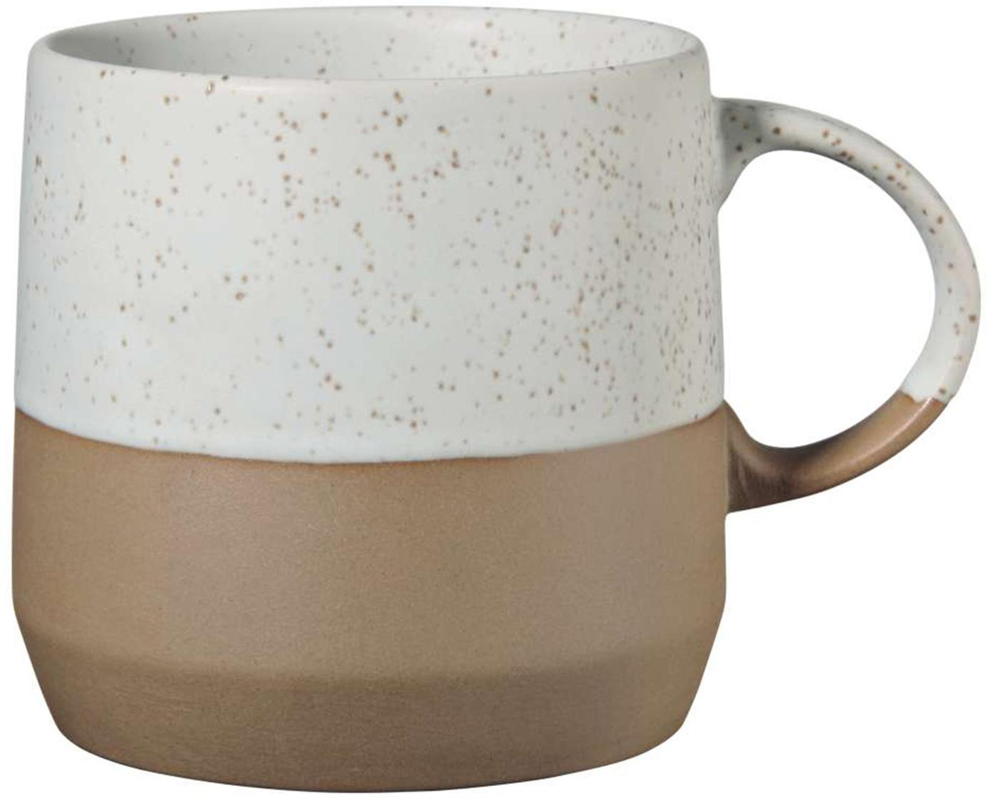 Tazza in tonalità marroni e beige Caja 2 pz, Argilla, Tonalità marroni e tonalità beige, Ø 9 x Alt. 9 cm