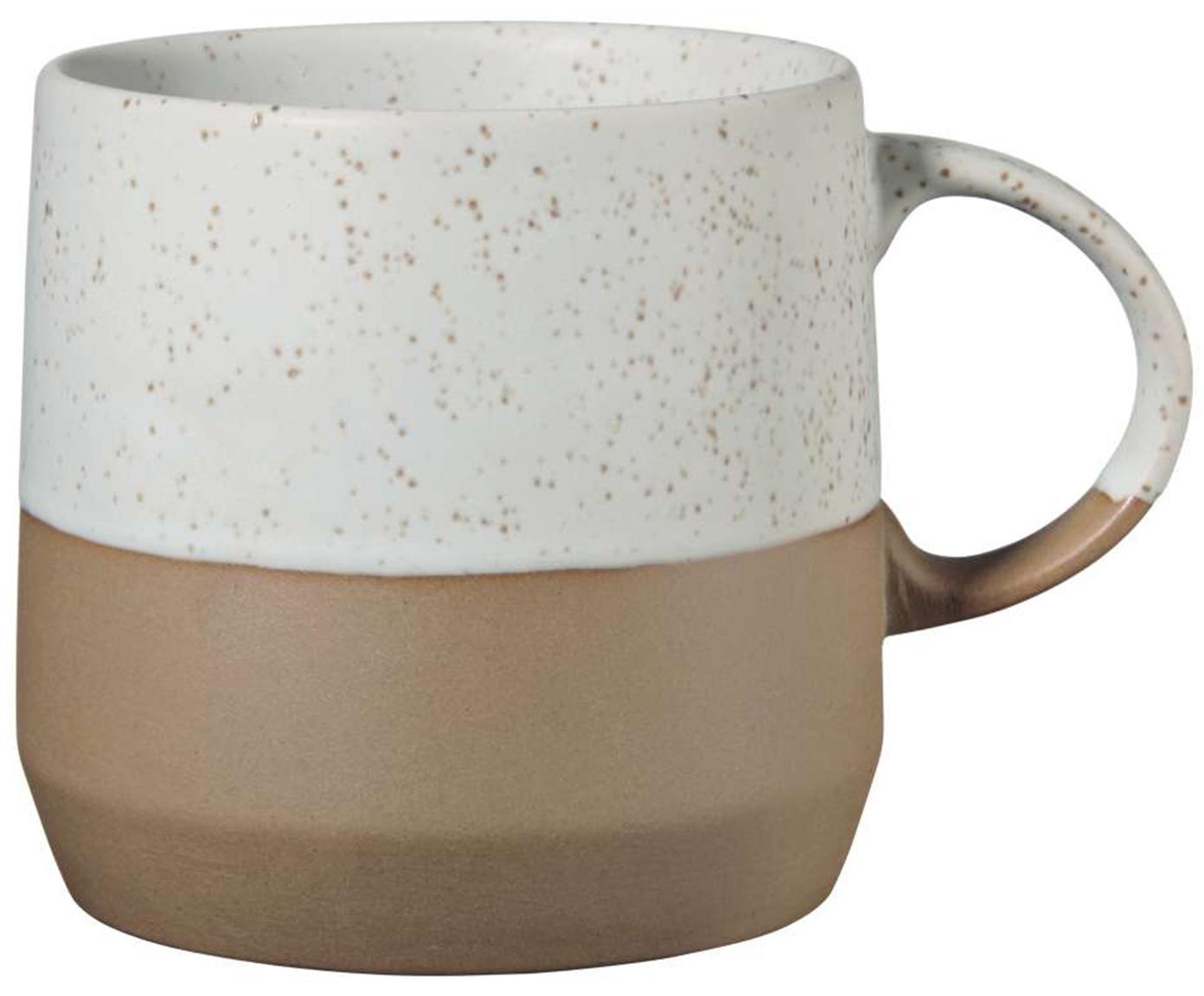 Tassen Caja in Braun/Beige matt, 2 Stück, Terrakotta, Braun- und Beigetöne, Ø 9 x H 9 cm