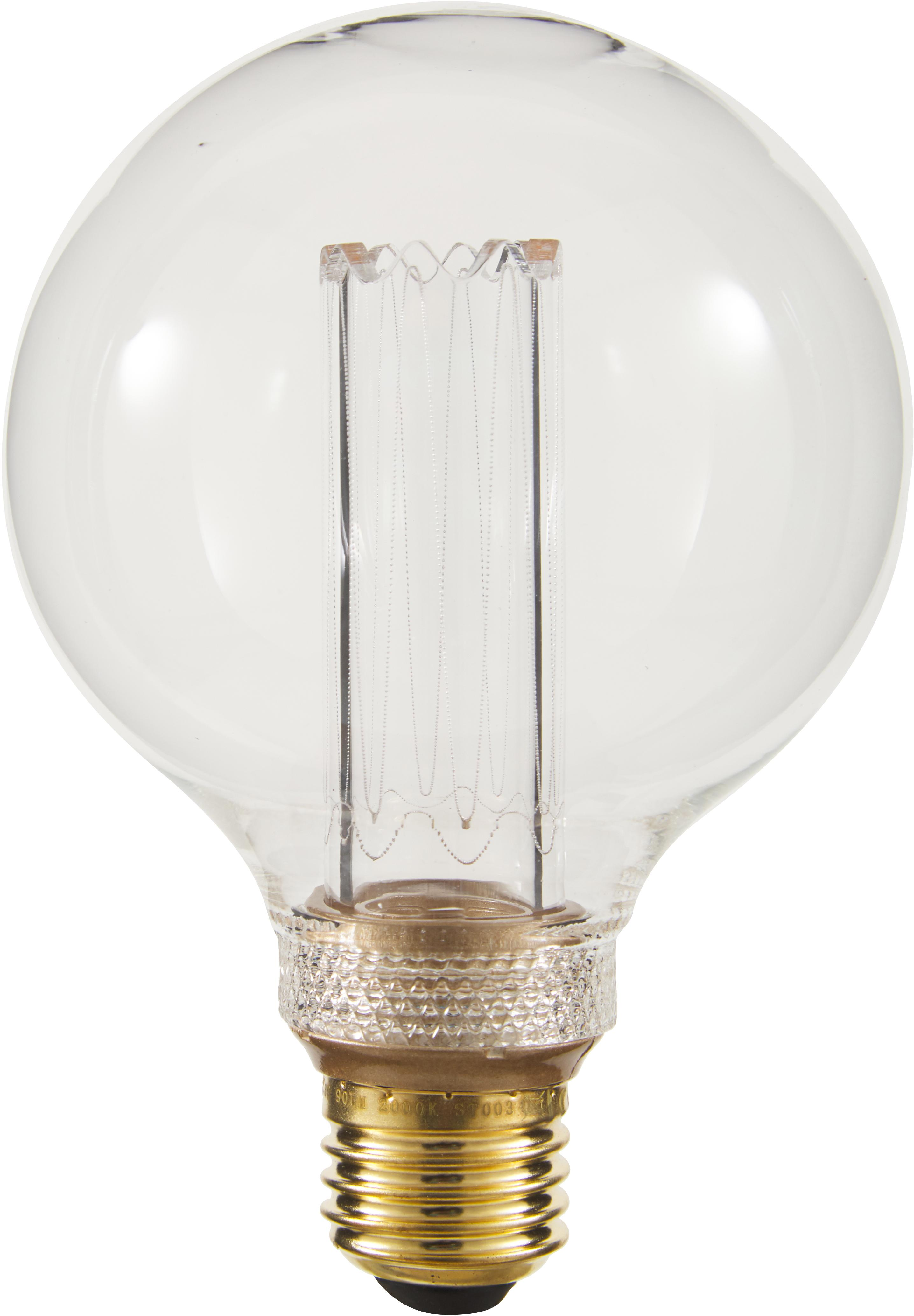 Lampadina a LED dimmable  New Generation (E27/ 2,5Watt), Paralume: Vetro, Base lampadina: ottone, Ambra, Ø 10 x Alt. 15 cm