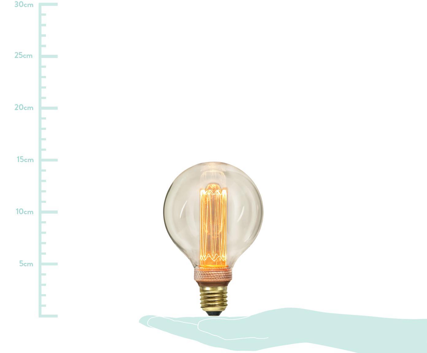 Dimmbares XL LED Leuchtmittel New Generation (E27/ 2.5W), Leuchtmittelschirm: Glas, Leuchtmittelfassung: Messing, Bernsteinfarben, Ø 10 x H 15 cm