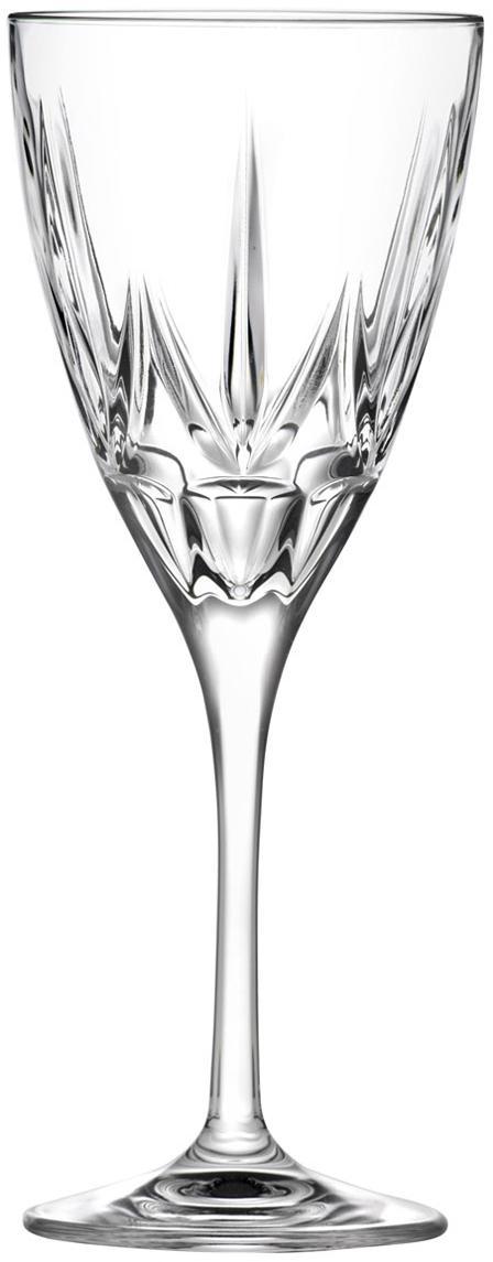 Bicchiere da vino rosso in cristallo Chic 6 pz, Vetro di cristallo, Trasparente, Ø 9 x Alt. 22 cm