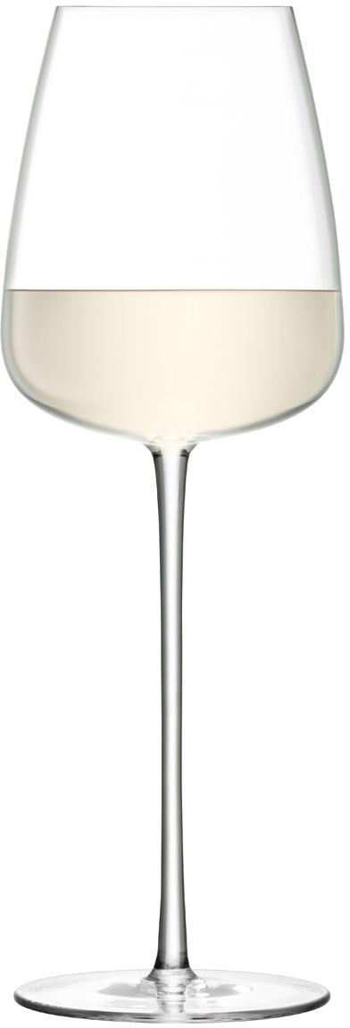 Copas de vino blanco soplados artesanalmente Wine Culture, 2uds., Vidrio, Transparente, Ø 9 x Al 26 cm
