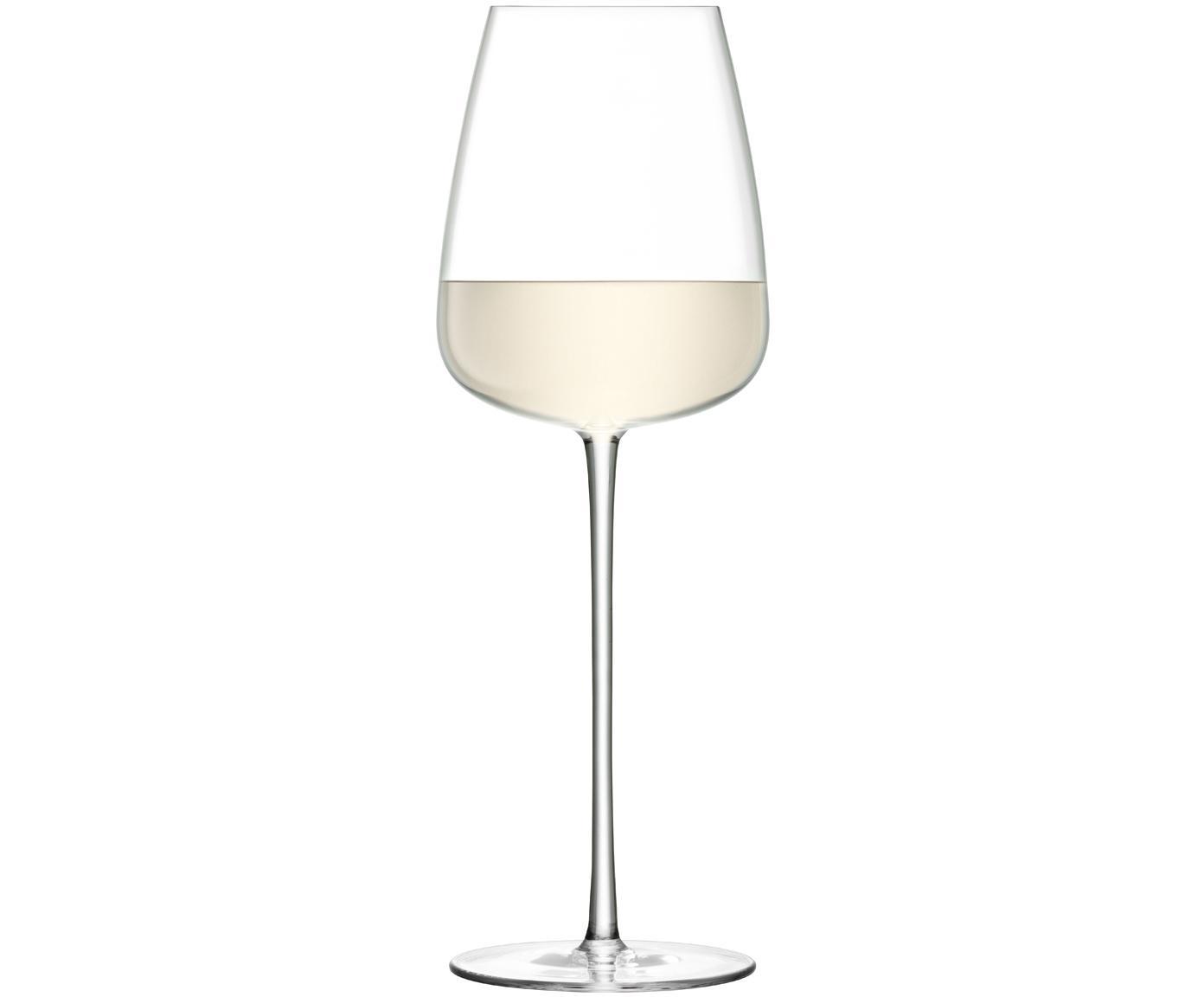 Copas de vino blanco de vidrio soplado Wine Culture, 2uds., Vidrio, Transparente, Ø 9 x Al 26 cm