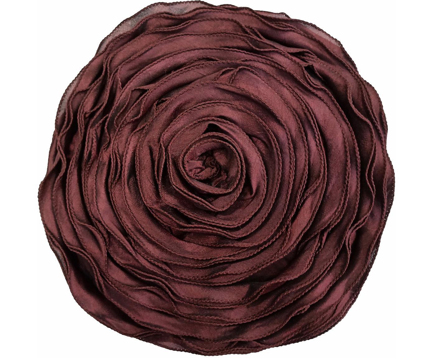 Cuscino a forma di rosa con imbottitura Bella, Rosso, Ø 40 cm