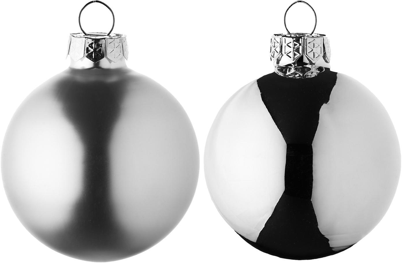 Weihnachtskugel-Set Evergreen Ø6cm,10-tlg., Silberfarben, Ø 6 cm