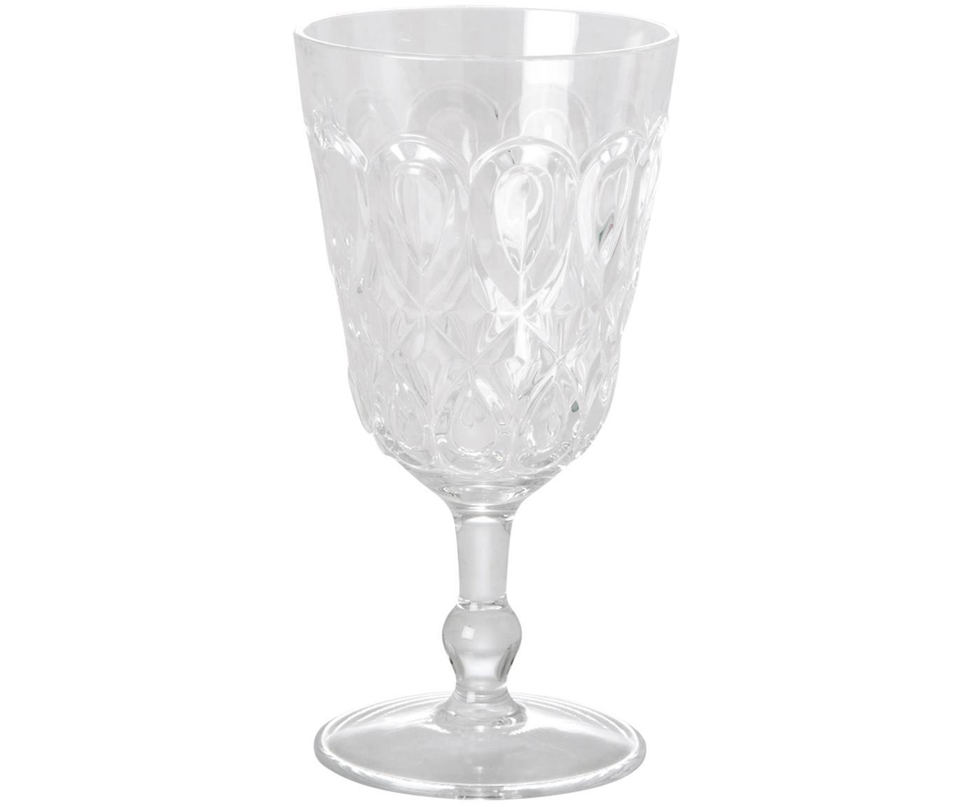Bicchiere da vino in acrilico Swirly 2 pz, Vetro acrilico, Trasparente, Ø 9 x Alt. 17 cm