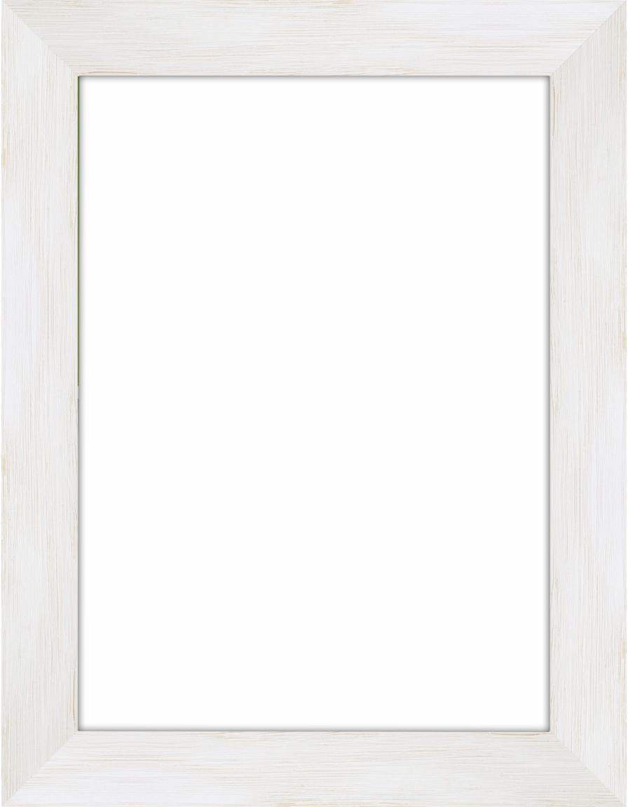 Cornice bianca Magic, Cornice: legno di pino Monterey ve, Retro: Pannello di fibra a media, Bianco, 13 x 18 cm