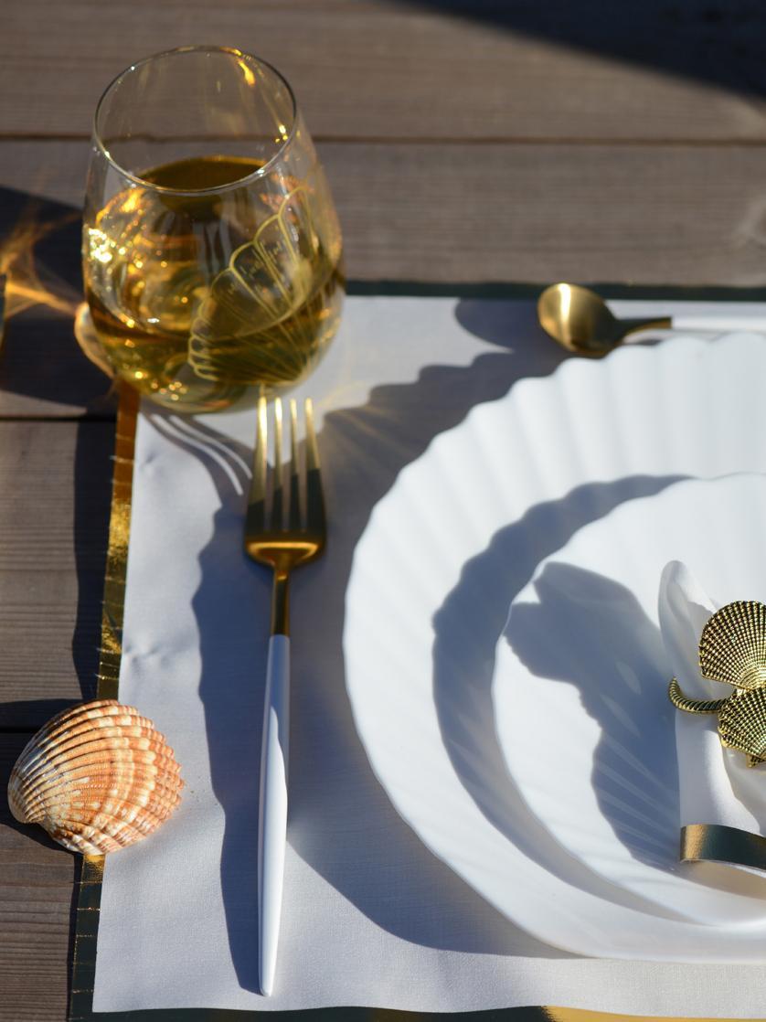 Set 6 posate color champagne opache in acciaio inossidabile in per 24 persone Faina, Acciaio inossidabile 18/0, rivestito, Ottonato, nero, Set in varie misure