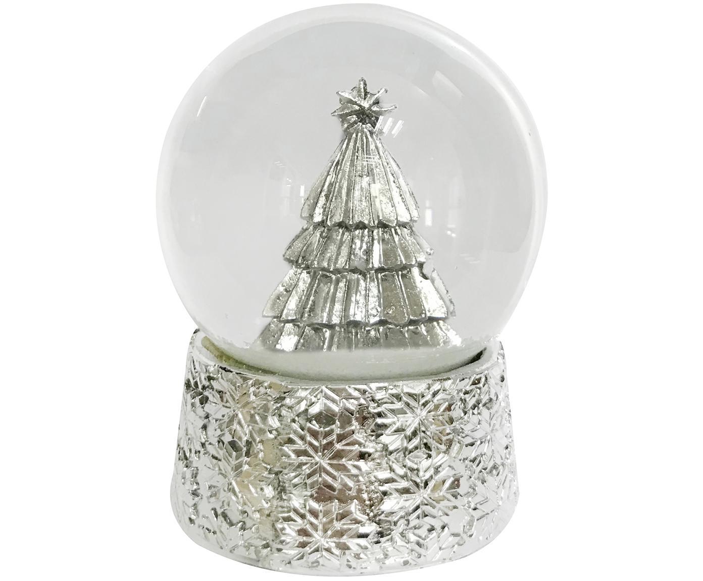 Schneekugel Serafina Tree, Sockel: Polyresin, Silberfarben, Ø 7 x H 8 cm