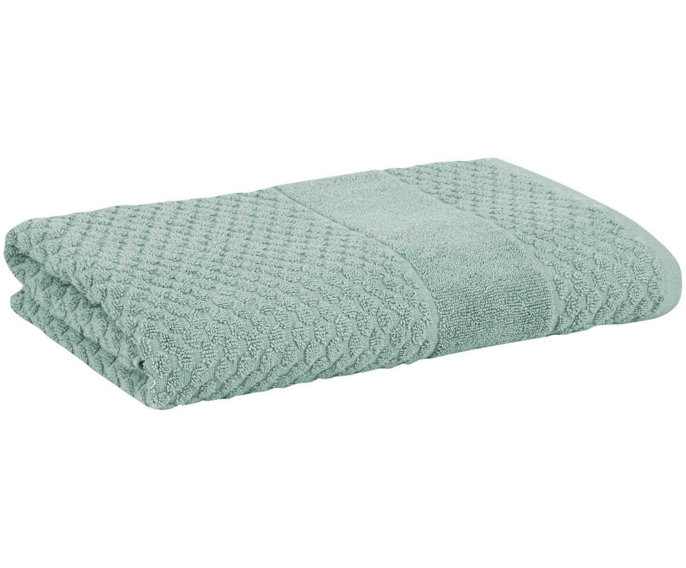 Handdoek Katharina, 100% katoen, middelzware kwaliteit 500 g/m², Groen, Handdoek