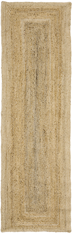 Handgemaakte juten loper Sharmila, Bovenzijde: jute, Onderzijde: jute, Beige, 80 x 250 cm