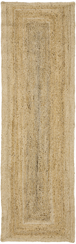 Handgefertigter Jute-Läufer Sharmila, Beige, 80 x 250 cm