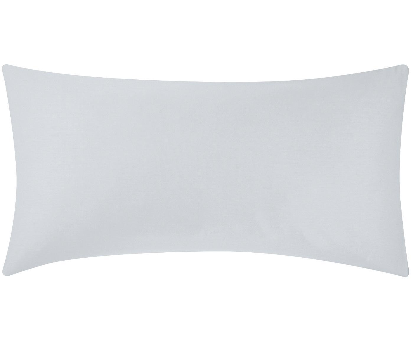 Poszewka na poduszkę z satyny bawełnianej Comfort, 2 szt., Jasny szary, S 40 x D 80 cm