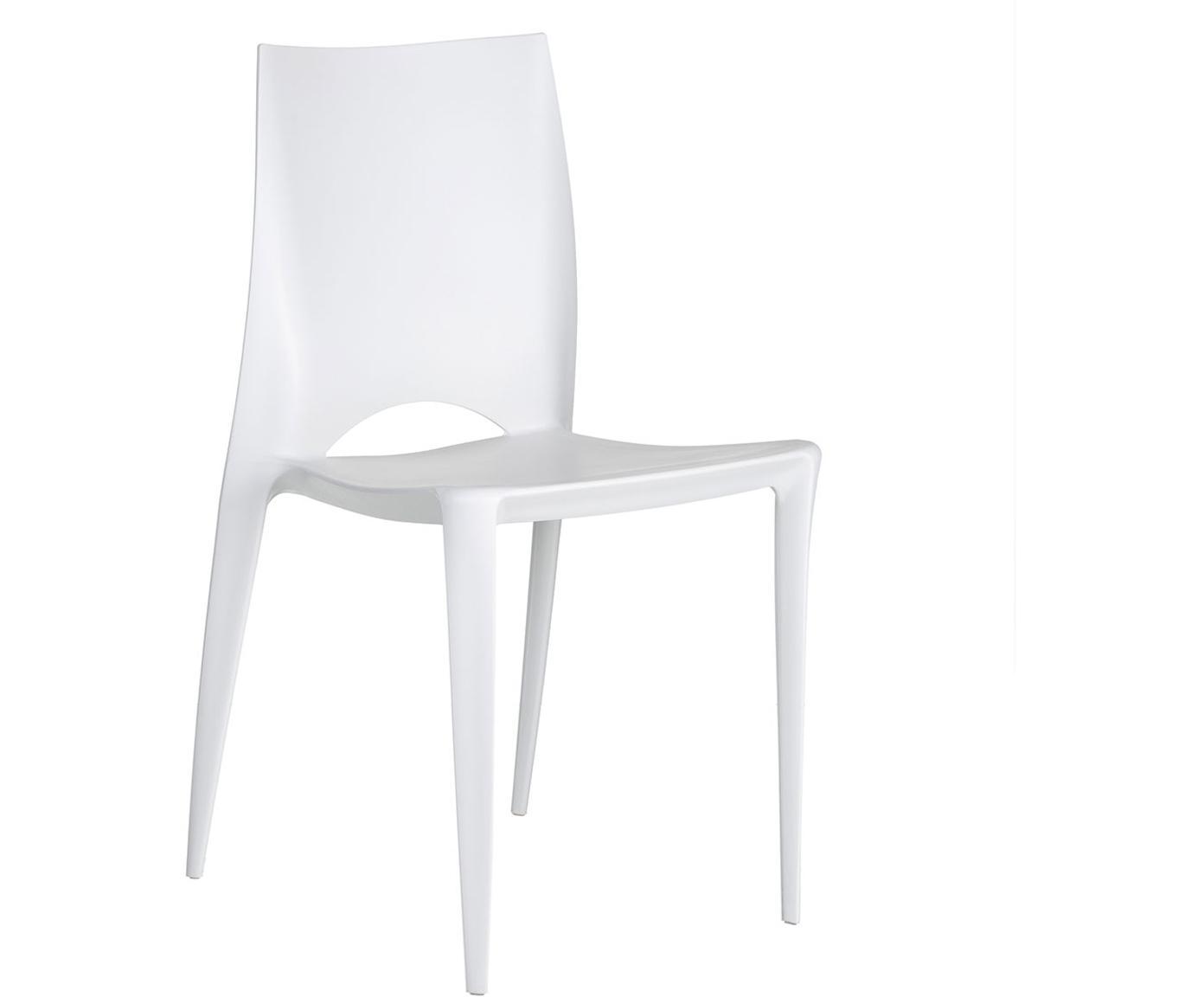 Silla Binster, Polipropileno, Blanco, An 44 x Al 84 cm