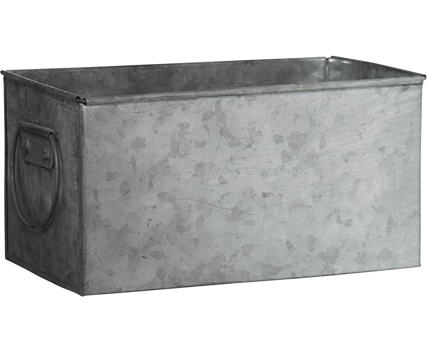 Übertopf Zintly, Metall, verzinkt, Zink, 17 x 9 cm